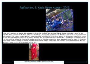 Koala August 2 Reflection 2019 - Koala August 2 Reflection 2019