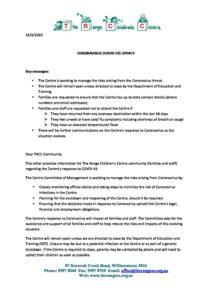 COVID 19 letter 16 Mar 2020 - COVID 19 letter 16 Mar 2020